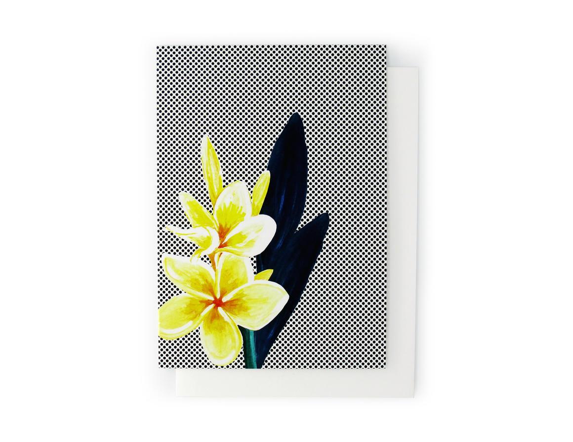 FRANGIPANI Artisan Greeting Card | Trada Marketplace