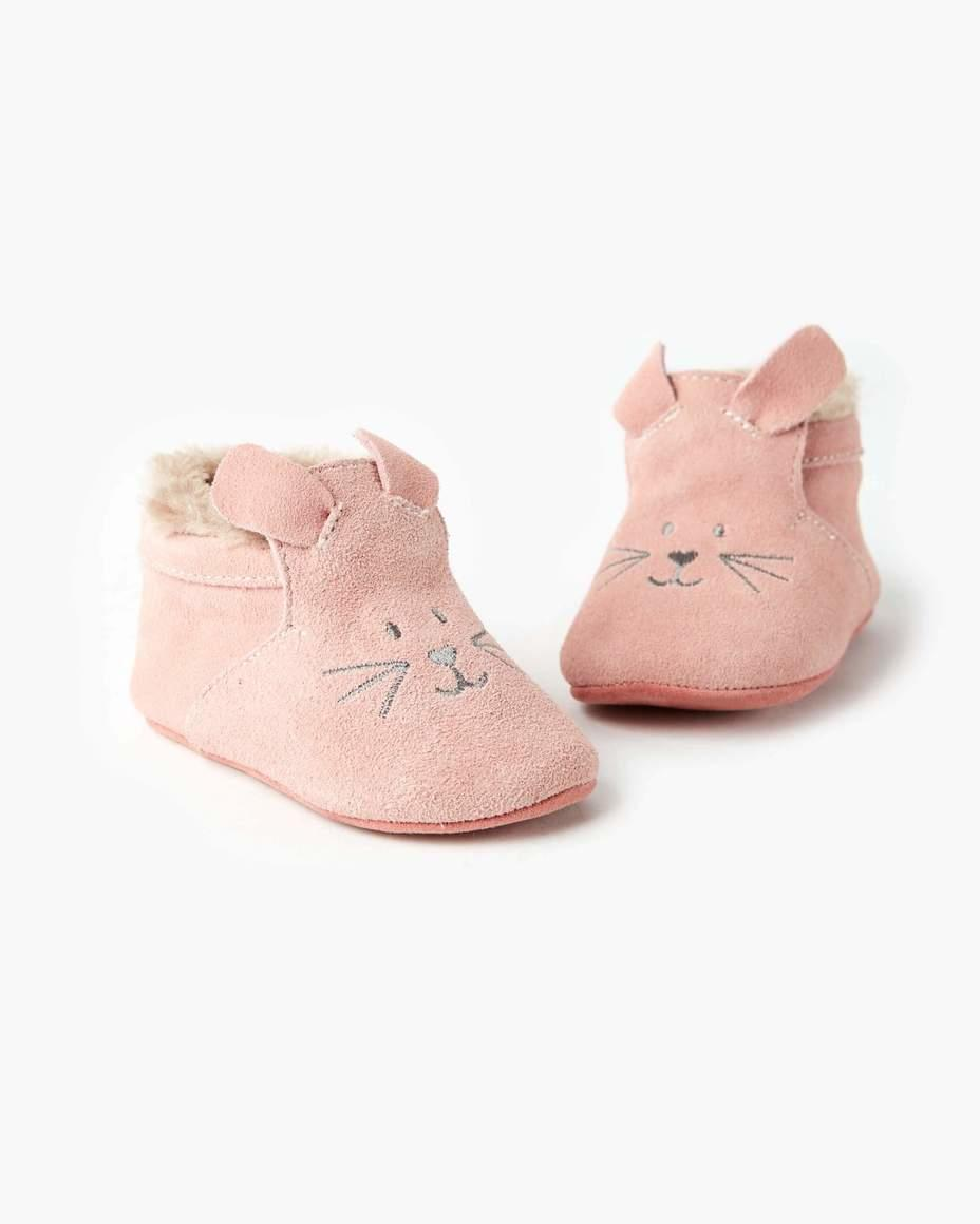 Maya Leather Bootie Pink | Trada Marketplace