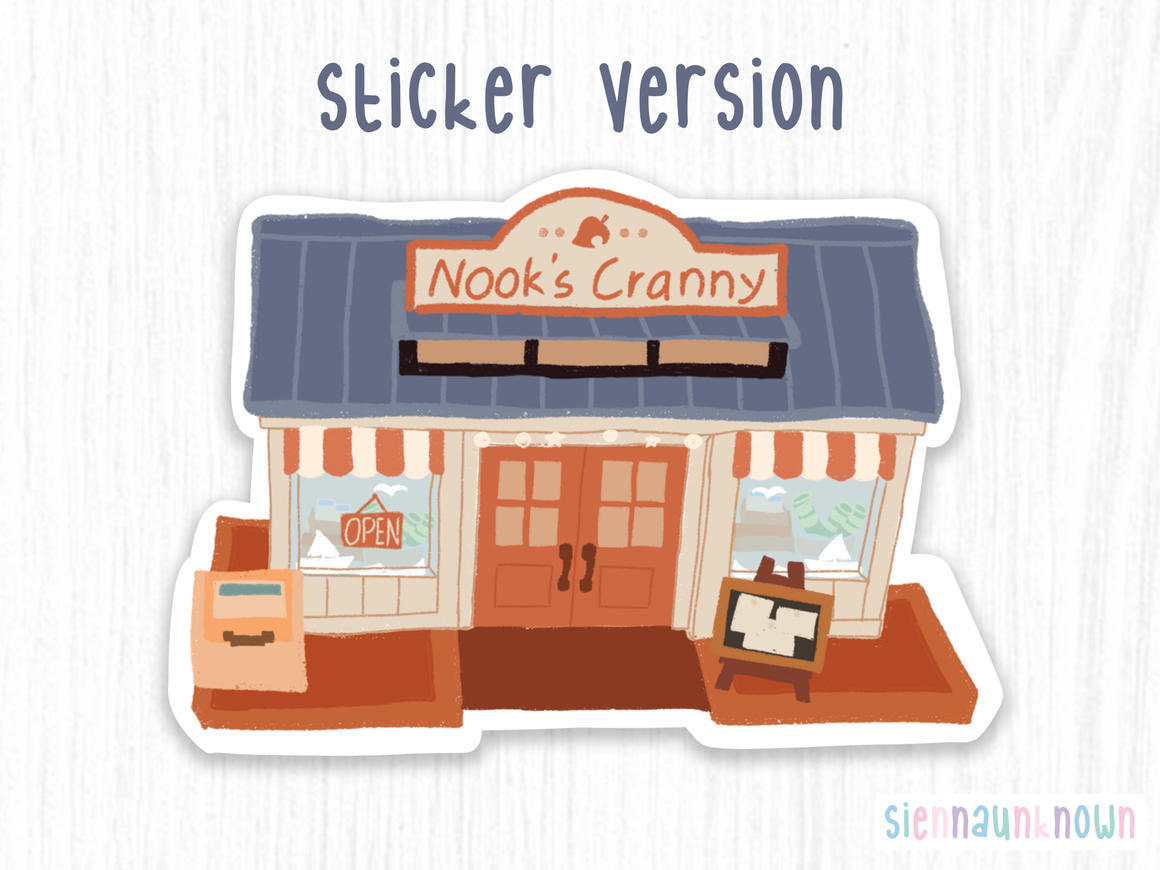 Animal Crossing Nook's Cranny Sticker & Art Print | Trada Marketplace