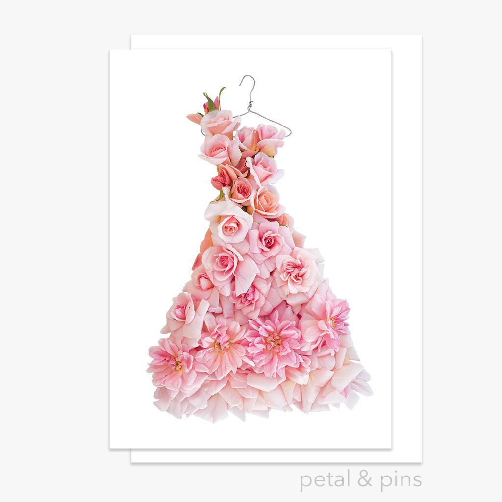 cécile brünner rose dress greeting card | Trada Marketplace