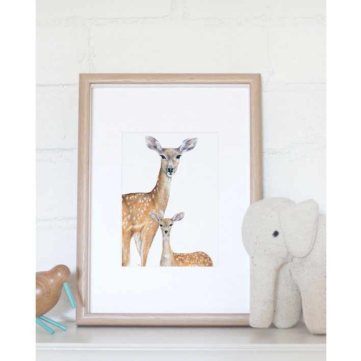 Deer Print + Frame | Trada Marketplace