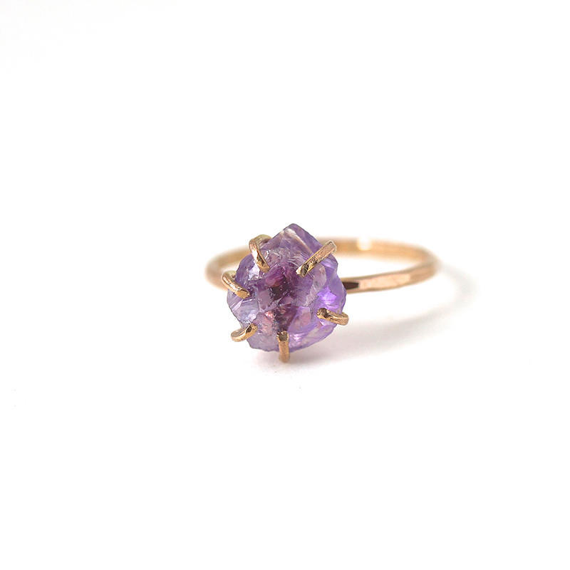 Amethyst Ring Gold Filled | Trada Marketplace