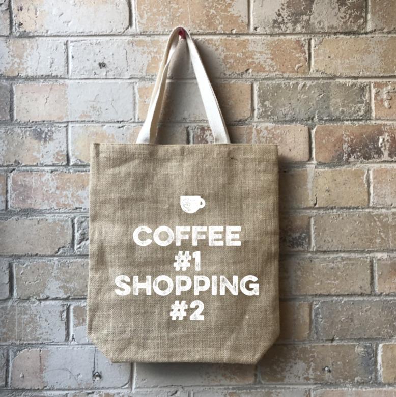 Coffee Addict Casual Shopper White   Trada Marketplace