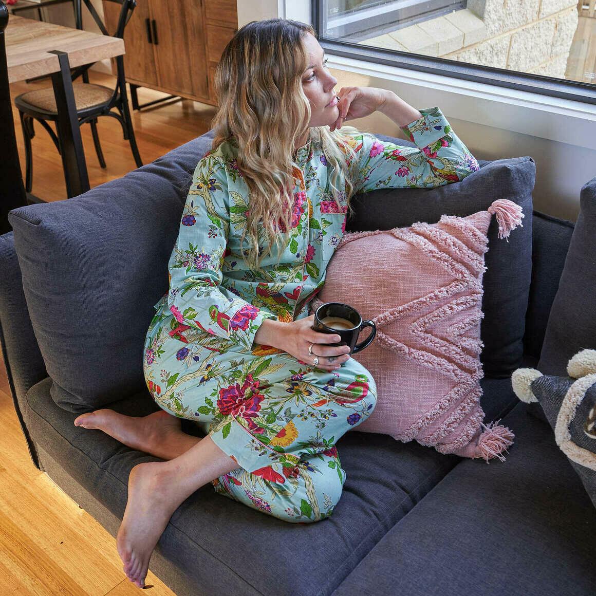 FLORAL PJ SET, Includes 4 sizes S,M,L,XL,  Personalized Pajamas, Bridal Party Pajamas, Bridesmaid PJs, Maid of Honor, Lounge wear, Sleepwear | Trada Marketplace