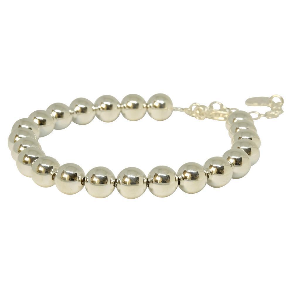 8mm Ball Bracelet - silver  | Trada Marketplace