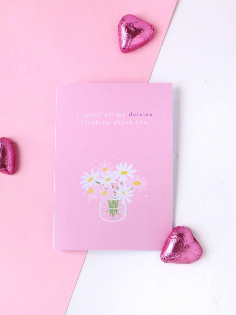 Daisy Jars Card - Pink | Trada Marketplace