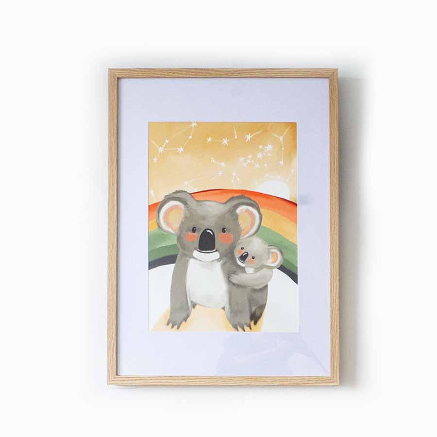 Mumma Koala and her Joey Fine Art Print | Trada Marketplace