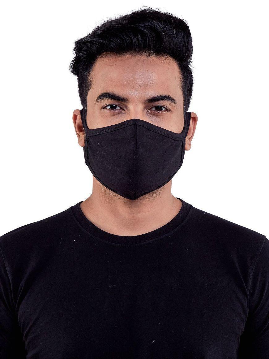 Black-jersey-cotton-three-layer-mens-mask | Trada Marketplace