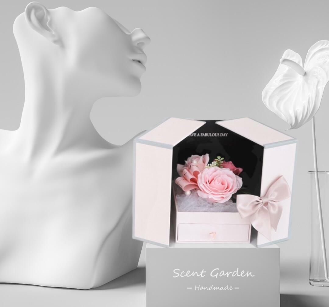 Soap Flower Jewellry Gift Box | Trada Marketplace