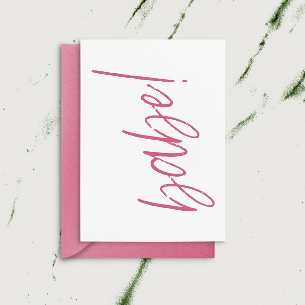 Babe!   Letterpress Greeting Card    Trada Marketplace
