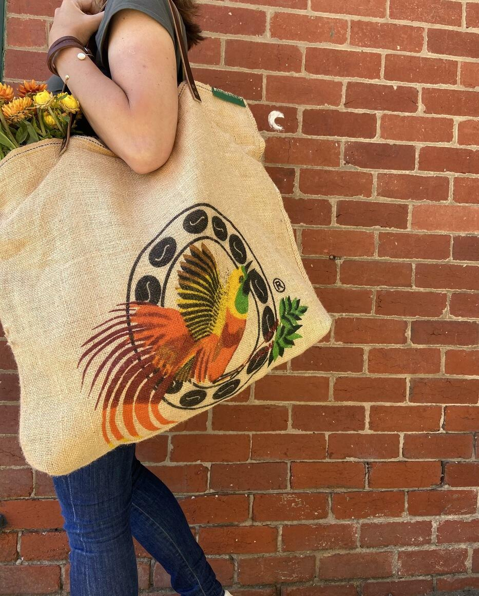 Upcycled Tote - Beautiful Bird | Trada Marketplace