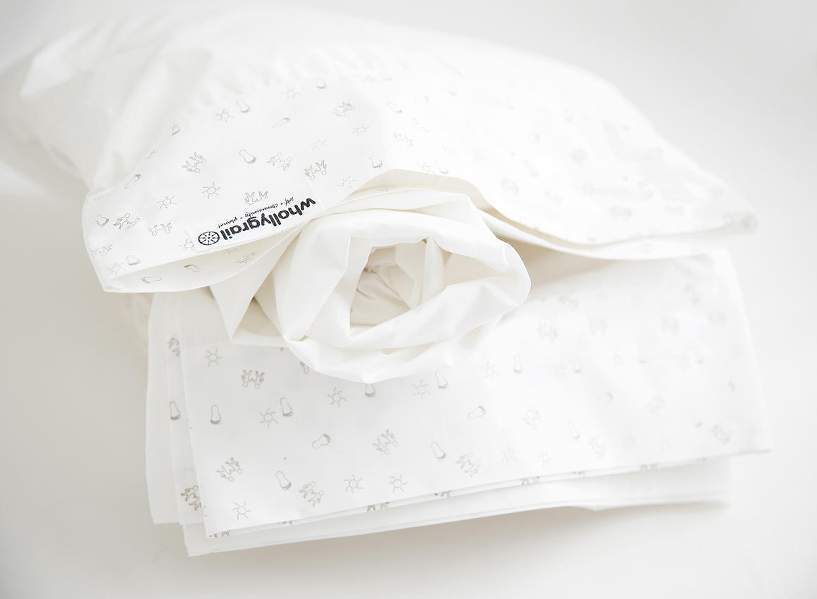 Baby Cot sheet set, organic, printed   Trada Marketplace