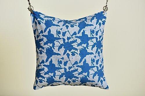 Aasmaan Blue Cushion | Trada Marketplace