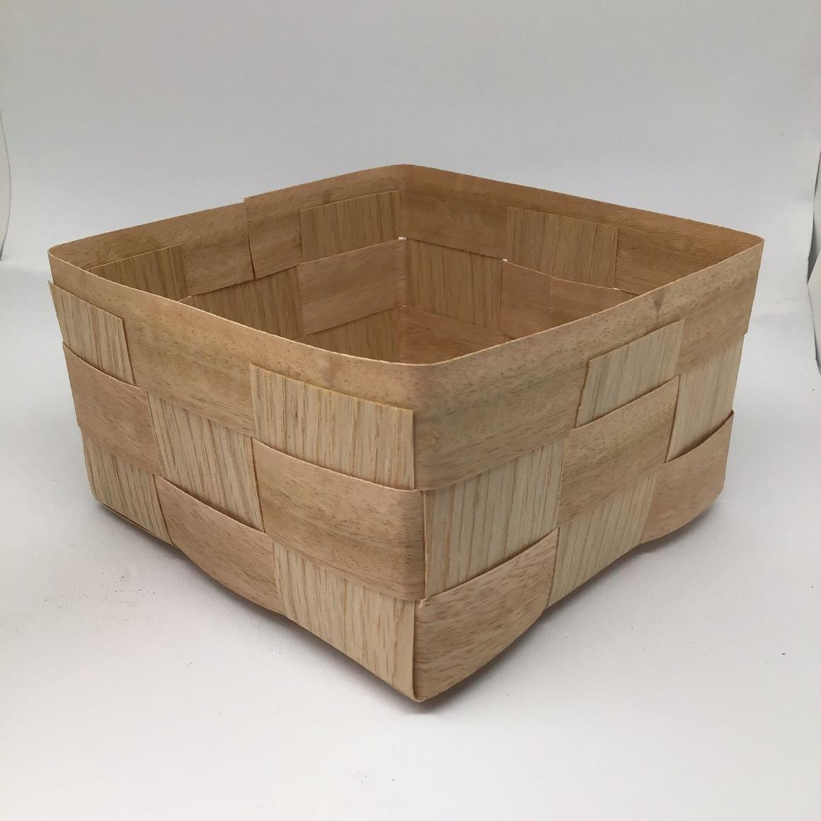 Standard Hamper (16x16x9cm) Various timber veneers, oak, walnut stain. Gift, Hamper | Trada Marketplace