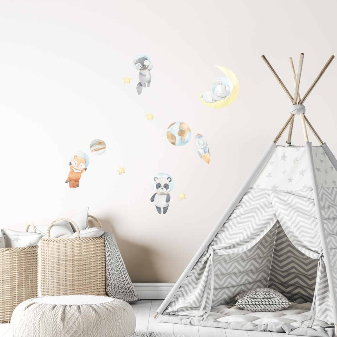 Fabric wall decals - Space adventures   Trada Marketplace
