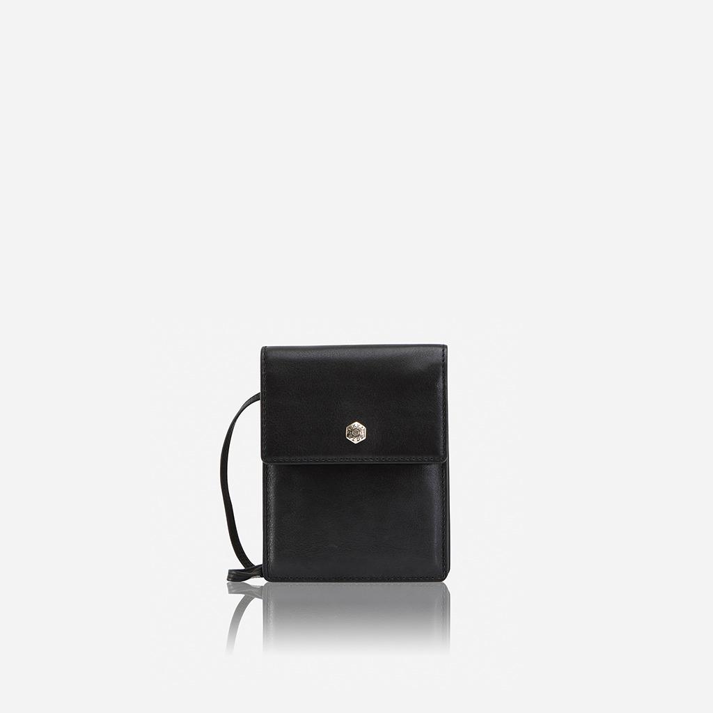 Contemporary Leather Crossbody Bag Black   Trada Marketplace