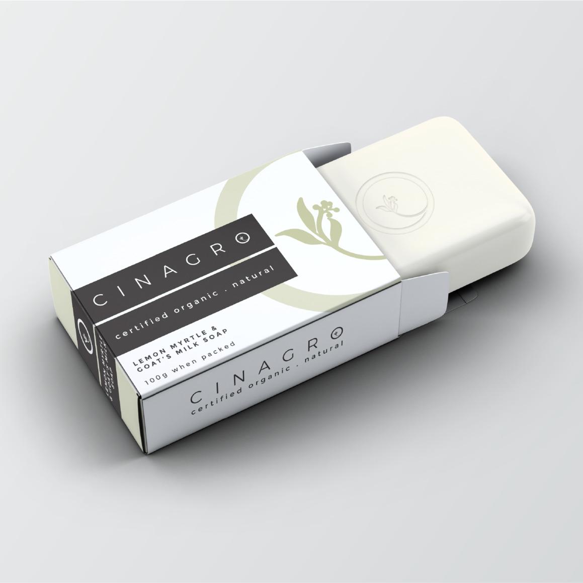 Lemon Myrtle & Goat's Milk Soap Bar - Certified Organic 100gm | Trada Marketplace