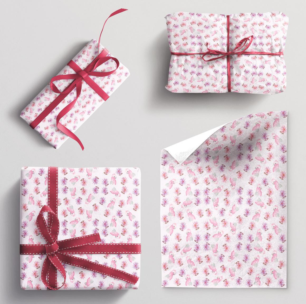 Wrapping paper single sheet Galah | Trada Marketplace