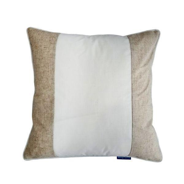 EASTWOOD White and Jute Panel Cushion Cover 50 cm by 50 cm   Trada Marketplace