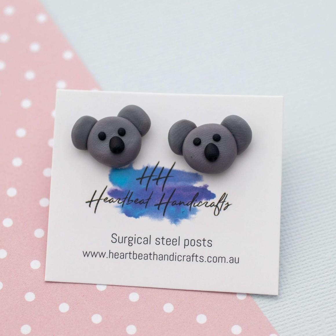 Koalas handmade stud earrings   Trada Marketplace