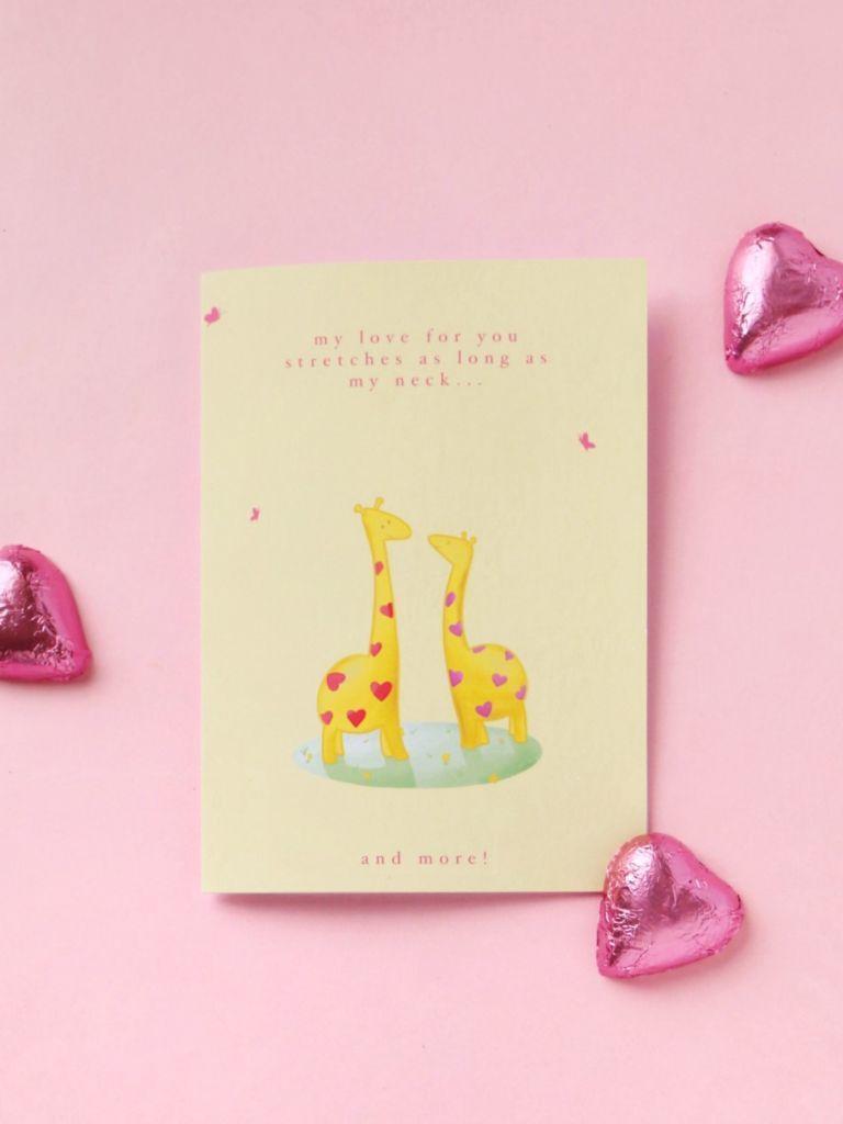Giraffes in Love Card | Trada Marketplace