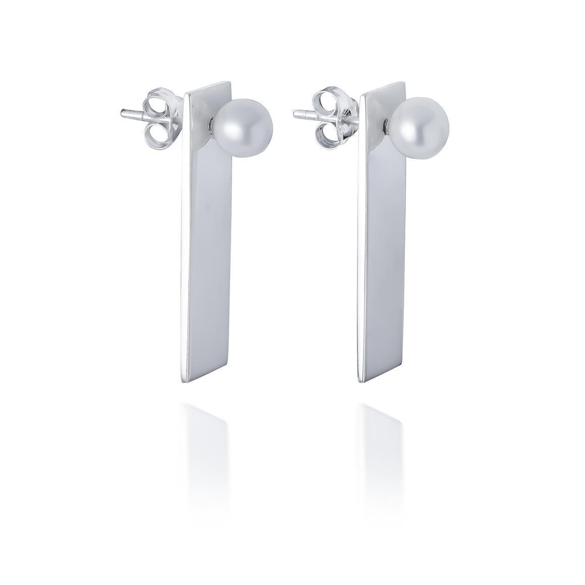 Pearl & Plate Earrings | Trada Marketplace