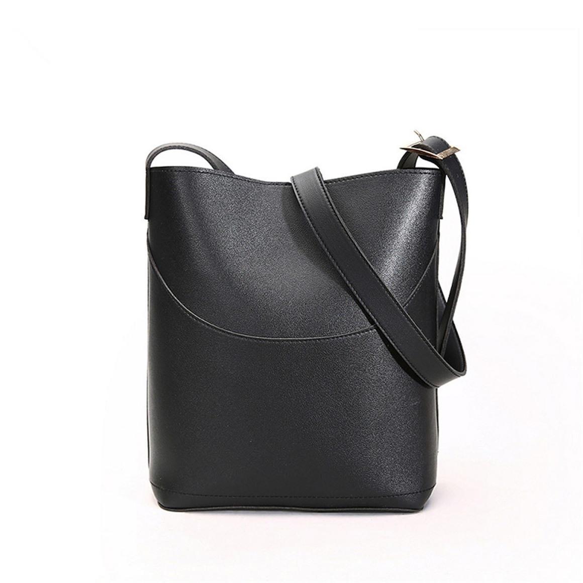 THSB1013: Black:  Eva Bucket Tote Bag | Trada Marketplace