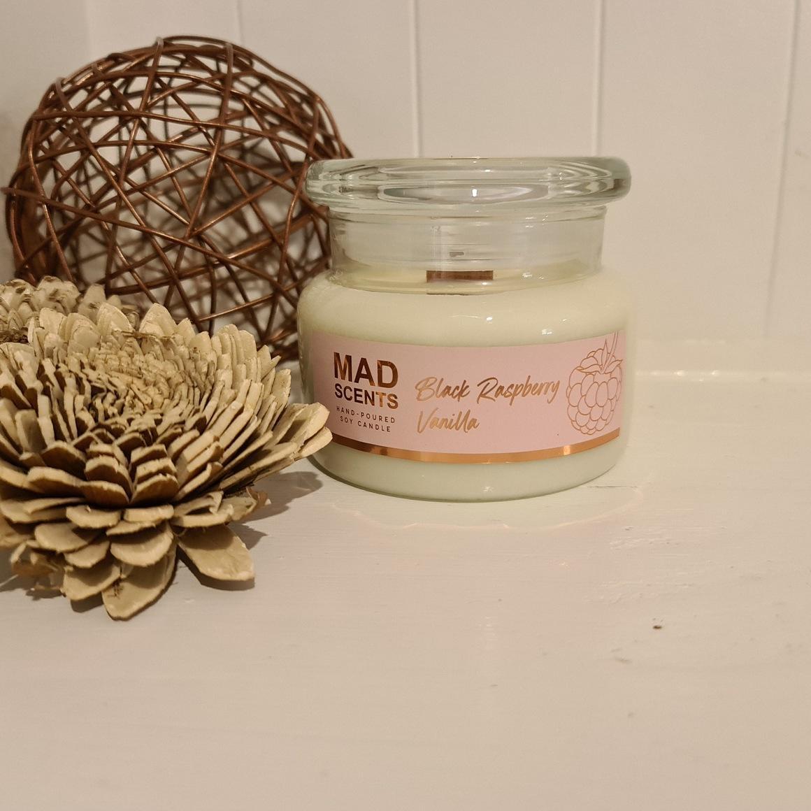 Black Raspberry Vanilla wood wick candle | Trada Marketplace
