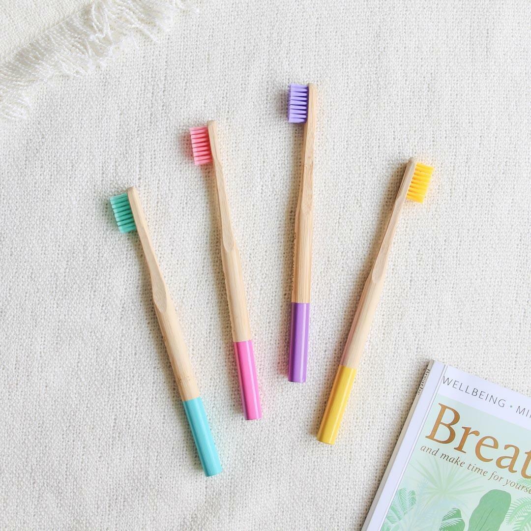 Bamboo Toothbrush   Soft & Medium Bristle    Adult & Kids Sizes   Trada Marketplace