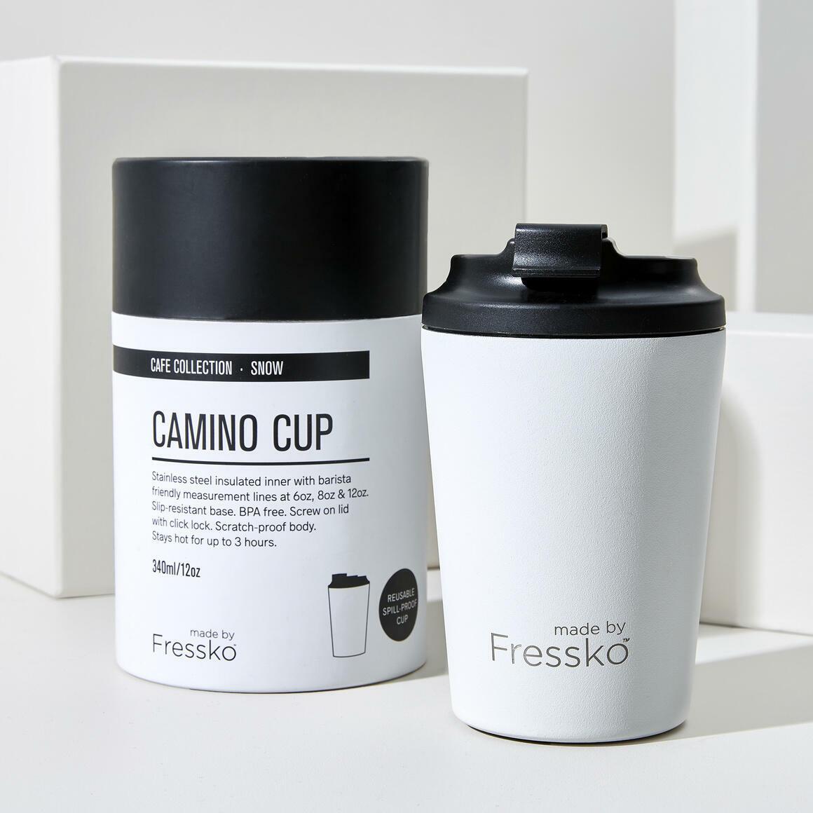 Fressko CAMINO  12oz Stainless Steel Reusable Cup WHITE | Trada Marketplace