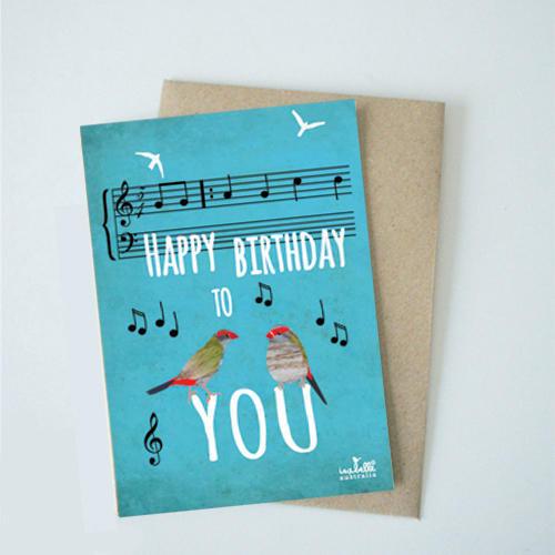 Happy Birthday on Blue   Trada Marketplace