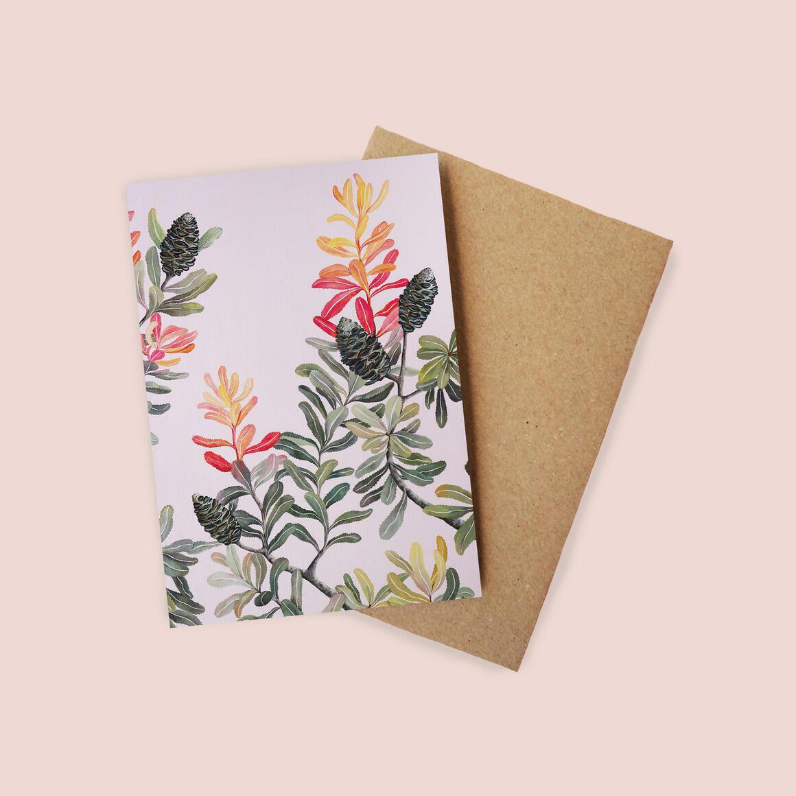 Greeting Card - Banksia Emerge | Trada Marketplace
