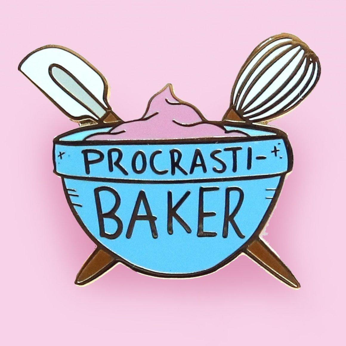 Procrasti-Baker Lapel Pin   Trada Marketplace