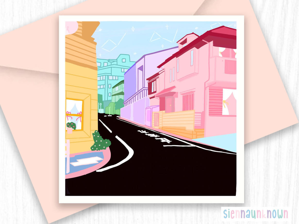 Aesthetic Art Print - Streets of Japan Illistration | Trada Marketplace