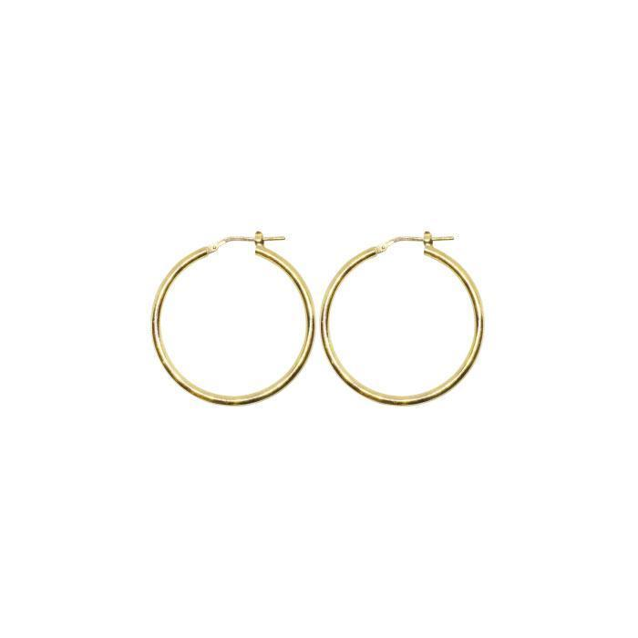 25 mm Sterling Silver Gypsy Hoop Earrings - Silver, Gold and Rose gold  | Trada Marketplace