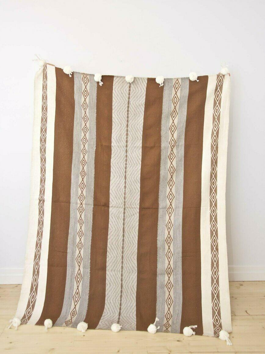 ALPACA THROW DESERTS (backstrap loom, natural dyes) | Trada Marketplace
