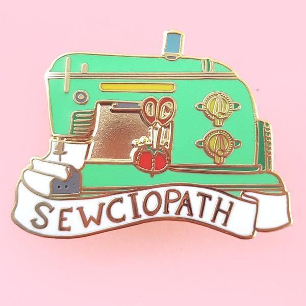 Sewciopath Lapel Pin   Trada Marketplace