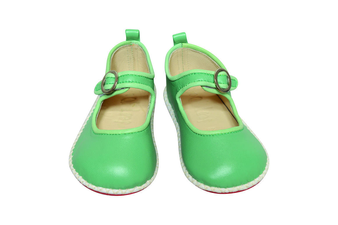 Ancona Circle Buckle Shoe green/mint   Trada Marketplace