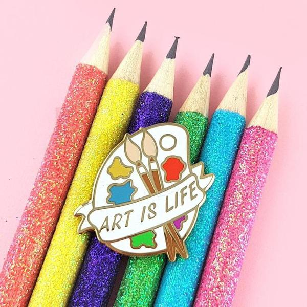 Art Is Life Palette Lapel Pin    Trada Marketplace