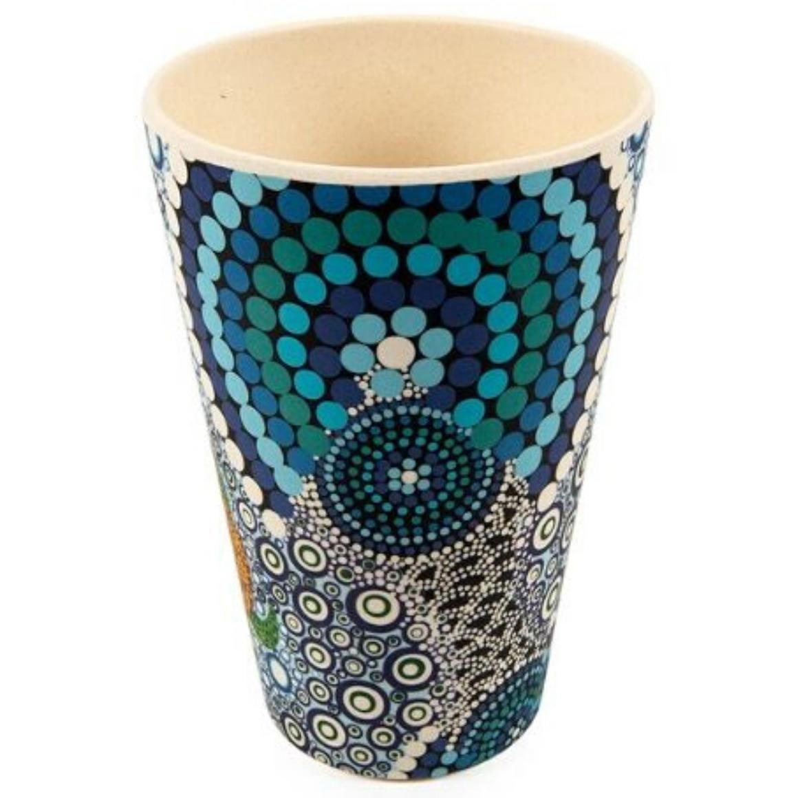 Tumblers Bamboo Aboriginal Design   - Colours of the Reef Design - Colin Jones  (Set of 2)   Trada Marketplace