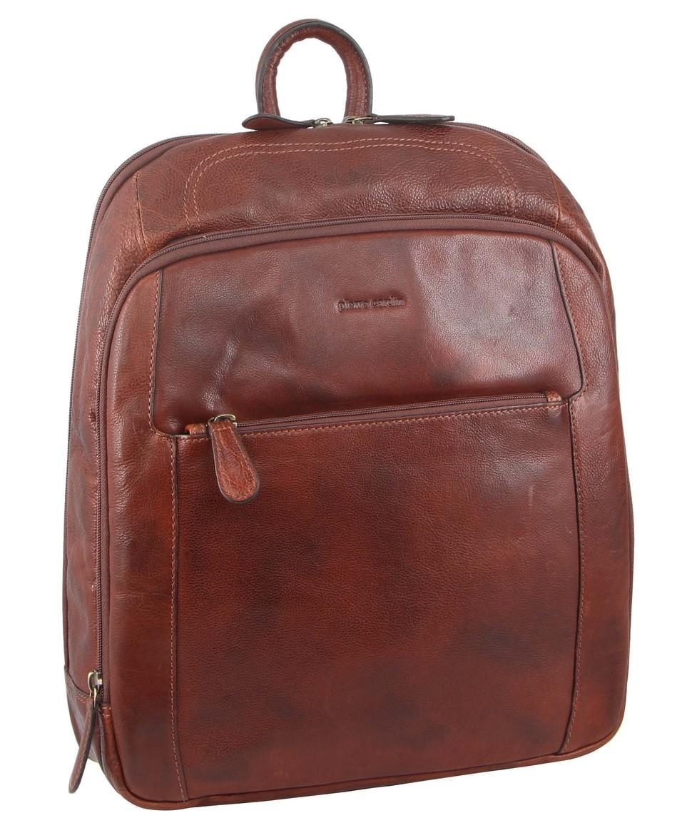 Pierre Cardin Rustic Leather Computer Backpack   Trada Marketplace