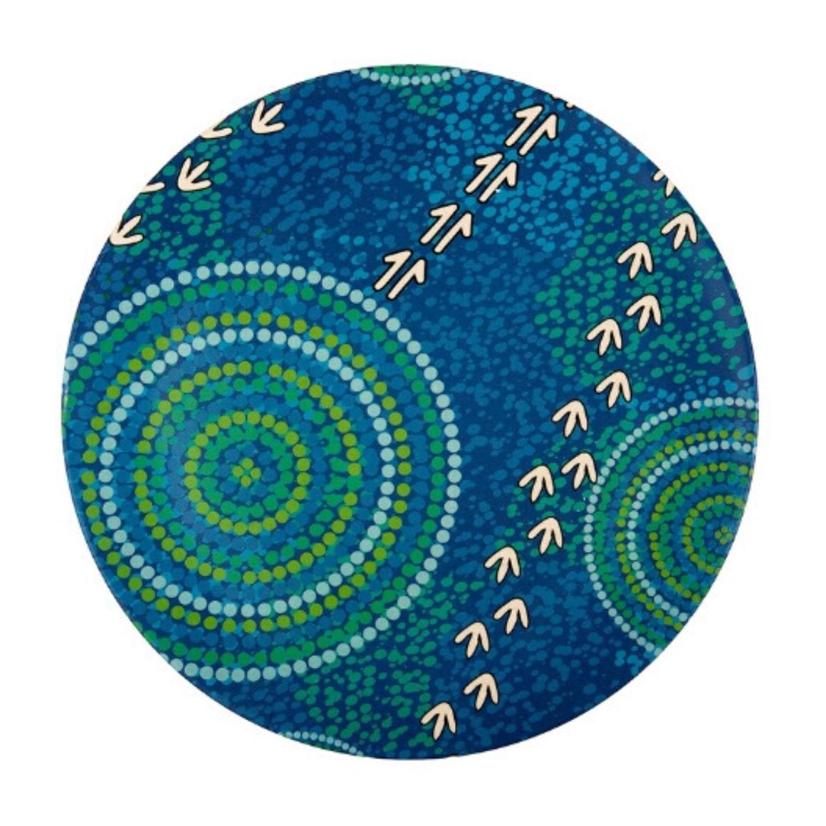 Plate Bamboo Aboriginal Design - Wet Design - Luther Cora (Set of 2)   Trada Marketplace