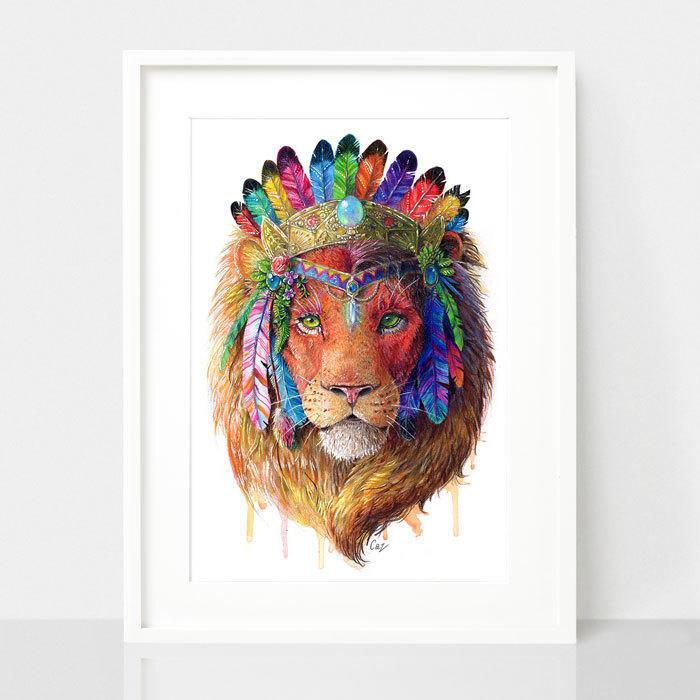 Lion Print - Spirit Animal Series | Trada Marketplace