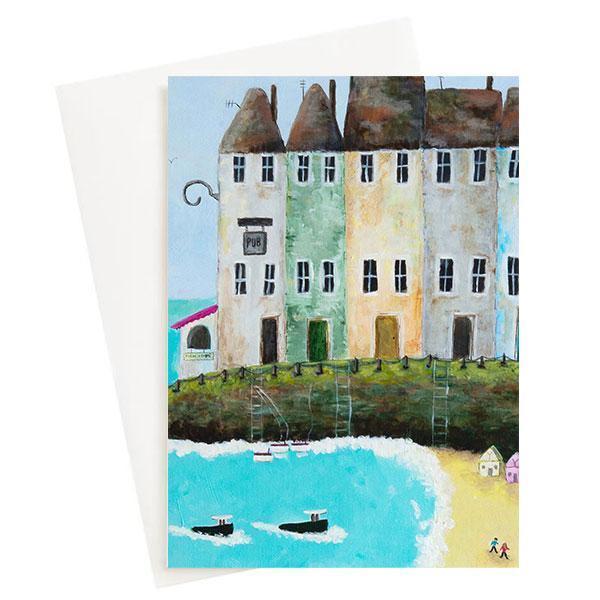 Beach Box Bay Greeting Card   Trada Marketplace