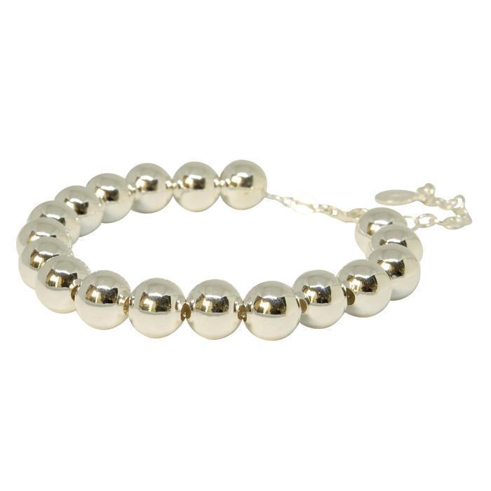 10mm Ball Bracelet - Silver  | Trada Marketplace