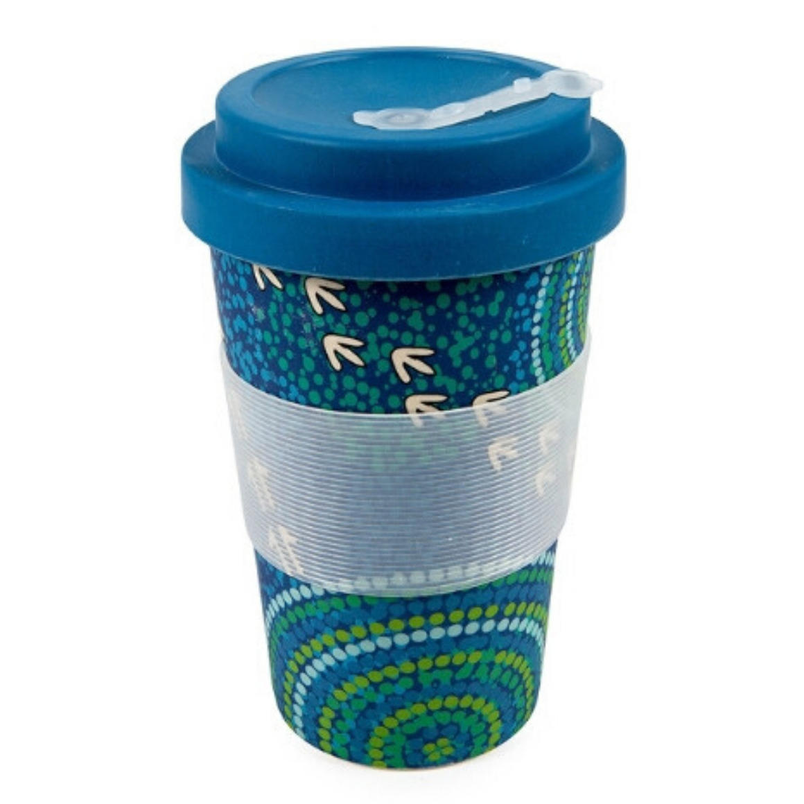Coffee Cup Bamboo Aboriginal Design  - Wet Design - Luther Cora    Trada Marketplace