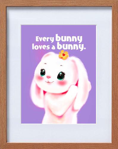 cute rabbit frame | Trada Marketplace