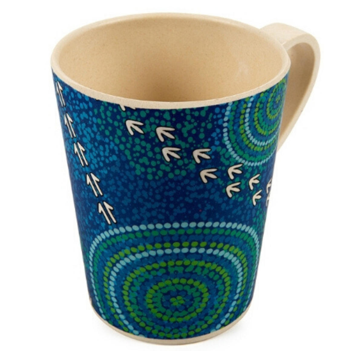 Coffee Mug Bamboo Aboriginal Design  - Wet Design - Luther Cora    Trada Marketplace
