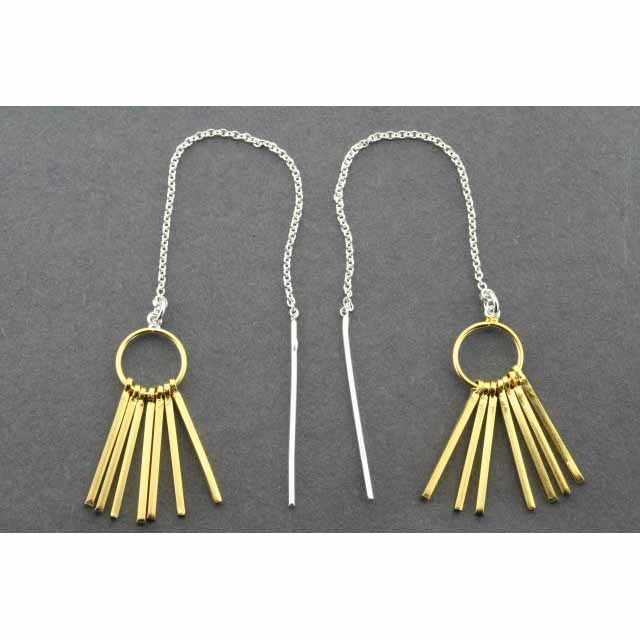 chain & tassel earring - gold plated | Trada Marketplace