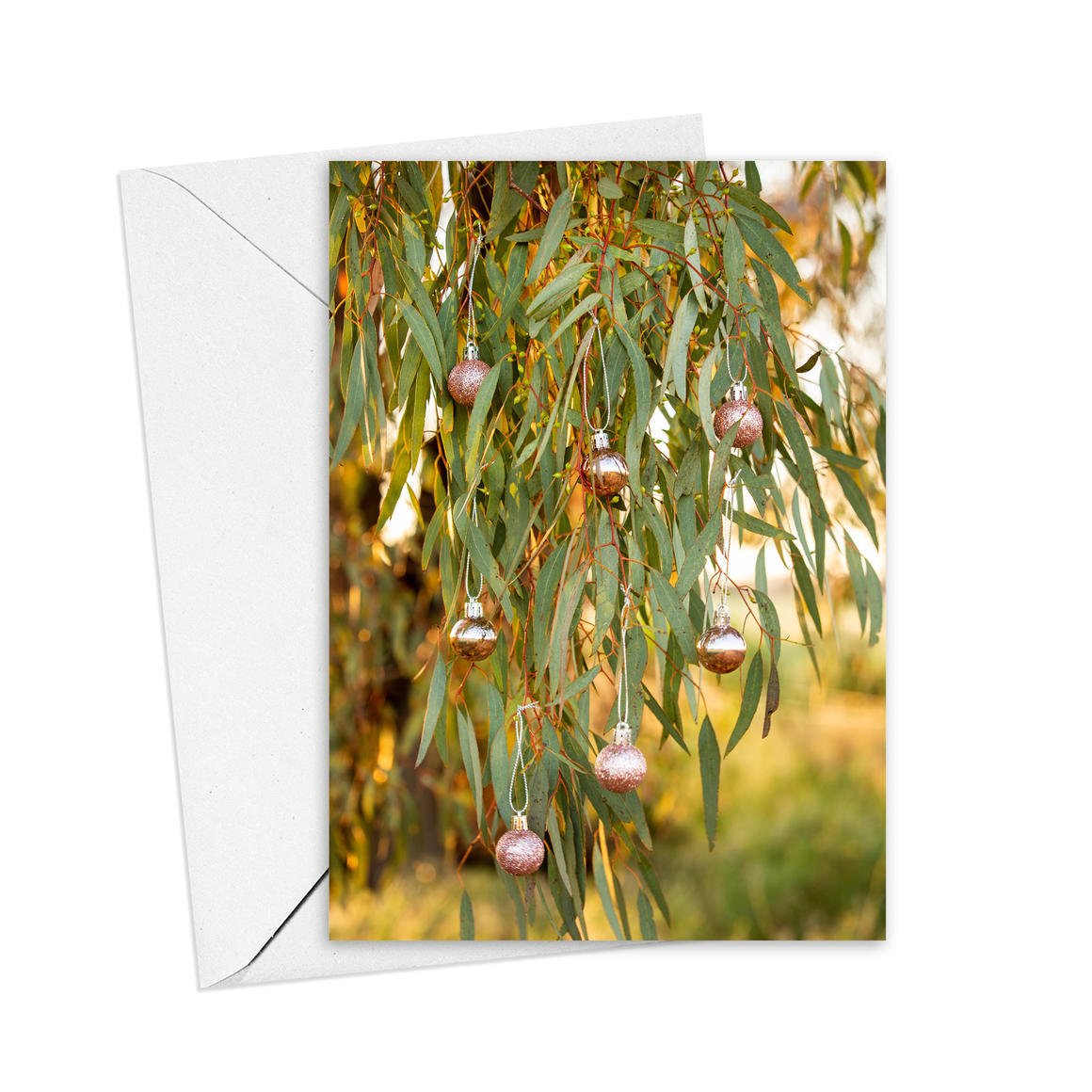 Christmas Pink Bauble Greeting Card   Trada Marketplace